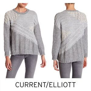NWT Current/Elliott Chunky Gray Slouchy Sweater